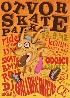 Skate Park Opening poster by Ivorin Vrkaš, Hrvoje Dominko and Tena Kelemen