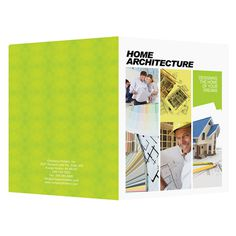 Home Architecture Presentation Folder Template (Front and Back View) #template #psd #photoshop #architecture