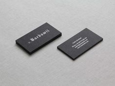 Cedric Bardawil Business Cards #branding #business #print #stationery #blackletter #cards #typography