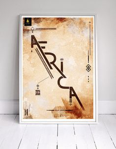 CJWHO ™ (I am Africa | Canvas Frame) #afrika #print #design #illustration #art #typography