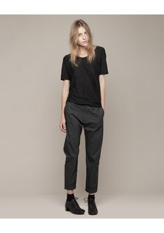 Hope / Drape Tee & Trouser + Marsèll / Patent Back Lace Up #fashion #women