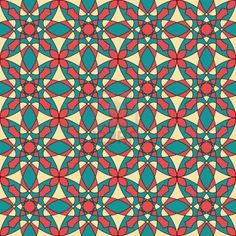 Seamless colorful retro pattern background, multicolored stained glass window Stock Photo