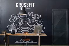 CROSSFIT Castelfranco #line #crossfit #trace #illustration #fitness #drawing