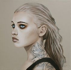 Richard Salcido #woman #illustrator #paint #illustration #tattoo