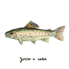 water color | hand lettering #salmon #fish #catch #waterColor #handLettering