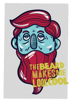 crep #bearded #beard #hipster #head #illustration #poster