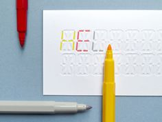 (D.I.Y) L.C.D Card #stationary