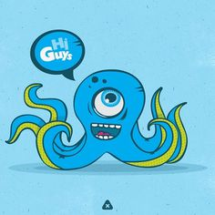 Flickr: Your Photostream #micahburger #illustration #funny #octopus