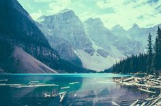 tumblr_n1j8rjJJaO1tu95c4o1_1280 #lake #forest #mountains
