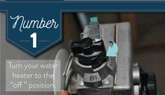 To begin flushing the sediment from your water heater tank turn off your water heater.