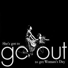 Calligram Designers: Woman's Day #womans #out #go #poster #day