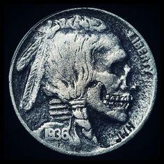 TRASH #nickel #carving #hobo