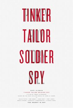 Creative Review - Posters for Tinker Tailor Soldier Spy by Paul Smith #white #and #print #black #minimal #poster #film