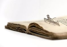 Artist Brings Books To Life Through Paper Cutting - DesignTAXI.com #illustration #cutting #paper #whimsical