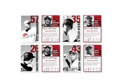 natarcita #red #white #modern #cards #black #and #numbers #baseball #typography