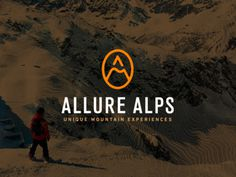 Branding design for an destinations managment company that operates on high level mountain experiences trough the Alps: Allure Alps - Uniqu #logotype #agency #mountain #line #branding #ski #travel #experiences #brand #snowboard #logo #tour #allurealps