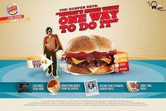 Burger King El Guaper on the Behance Network #burger #site #orange #tasty #whopper #hot #king