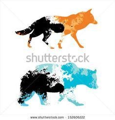 Animals abstract logo template. Vector icon. Editable   stock vector