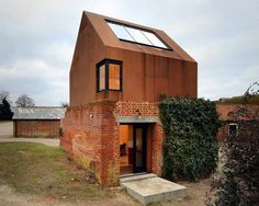 The Dovecote Studio by Haworth Tompkins #reclaimed #rust #architecture #haworth #tompkins