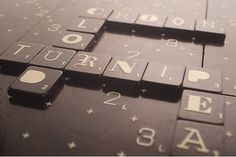 Scrabble Typography Limited Edition | The FontFeed #scrabble #typography