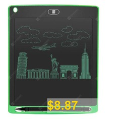 8.5inch #Digital #LCD #Writing #Tablet #High-definition #Brushes #Handwriting #Board #- #GREEN