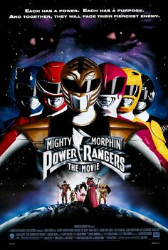 Extra Large Movie Poster Image for Mighty Morphin Power Rangers: The Movie #movie #old #nostalgic #rangers #mighty #power #school #morphin #poster