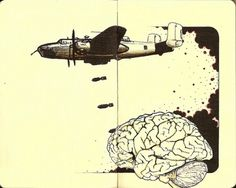 All sizes | b25 | Flickr - Photo Sharing! #ink #and #brain #moleskine #pen #inkandclay #drawing #bomber #sketch