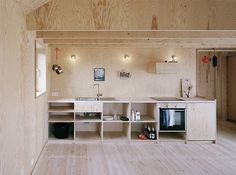 Johannes Norlander Arkitektur AB / Morran #simple #plywood #minimalist #kitchen
