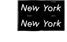 New York New York, Julia #white #editorial #black #typography