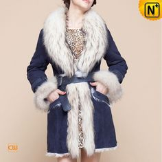 Fur Trimmed Coat for Women CW601050