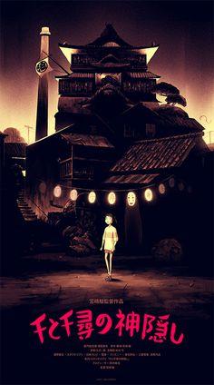Spirited Away, Hayao Miyazaki, Olly Moss