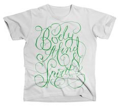 Body Mind & Soul by Anton Burmistrov #type #lettering #merchandise #typography