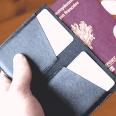 The Fold Wallet is the first of its kind that can fold in both directions to fit your travel needs. It can hold up to 9 cards, 1 passport and additional cash, all while still maintaining its slim and sleek design. High-performance fabric made with 100% vegan leather or natural cork.