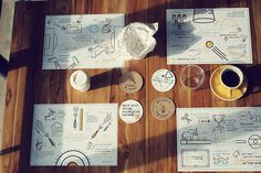 THE PLAYROOM on Behance #branding #icon #infographics #cafe #illustration #bar