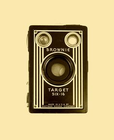 Brownie Camera Art Print #cool #old #camera #print #design #retro #land #unique #photography #vintage #art #studio #society6 #antique #new