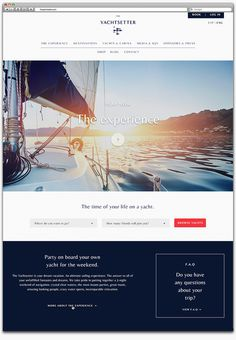 The Yachtsetter by Anagrama #website #web design
