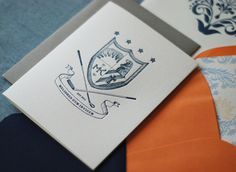Illustrated Family Crest Wedding Invitations Richie Designs3