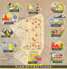 USSR Pavilion, first floor map | Flickr: Intercambio de fotos