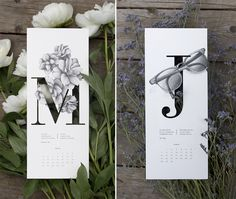 Illustrated calendar by Carla Cascales Alimbau #2015 #poem #calendar #illustration #haiku #typography