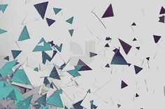 Images - Scatter Two by Norrasak Ramasute - YouWorkForThem #shapes #triangles