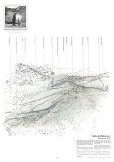 keiralexander_napolietc_saviourshill_sm-10.jpg (1414×2000) #colle #line #aerial #saviour #hill #vesuvius #illustration #volcano #keir #village
