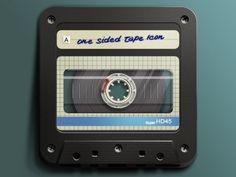 onesidedtape.jpg (400×300) #icon #tape #cassette #app