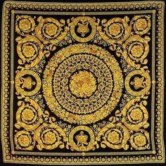 Pattern Style #pattern #black #versace #golden #gold #fashion #style