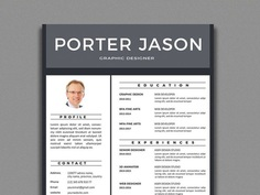 Porter Resume - Free Clean Resume Template in Illustrator Format