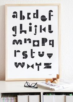 Toy Block Alphabet Print