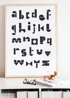 Toy Block Alphabet Print #typograpy