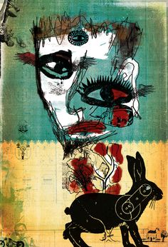 The Self Portrait of Peter Rabbit — Peter Bell #artist #peter #art #wisconsin #face #rabbit #collage #bell