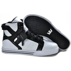 Supra High Top Sneakers Skytop White Black #shoes