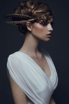 Stasia. Ford Models Chi.MUA Zee GustafsonStyling Rebecca Neenan #fashion #photography #headdress