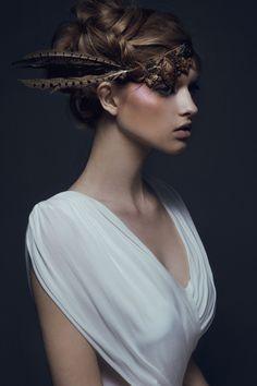 Stasia. Ford Models Chi.MUA Zee GustafsonStyling Rebecca Neenan #fashion #photography #headdress